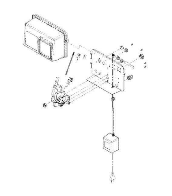 Cable compteur Electronique pour fleck 2850 SXT