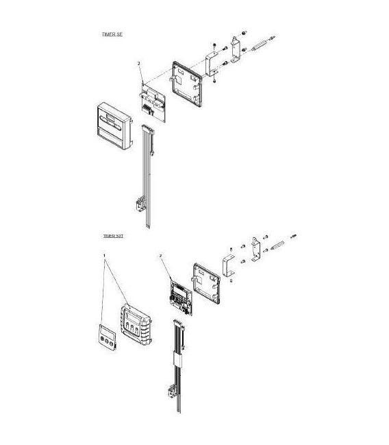 Clip de fixation capot pour fleck 9100
