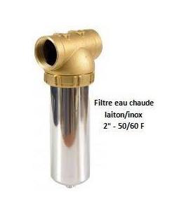 """Porte-filtre à eau chaude laiton/inox - 9"""" - 50/60"""