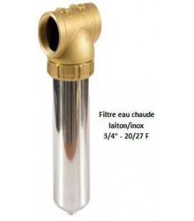 """Porte-filtre à eau chaude laiton/inox - 20"""" - 20/27"""