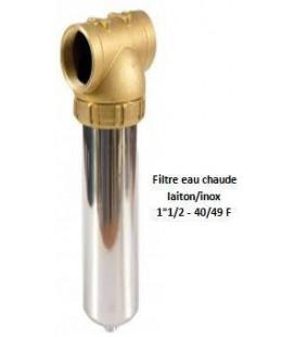 """Porte-filtre à eau chaude laiton/inox - 20"""" - 40/49"""