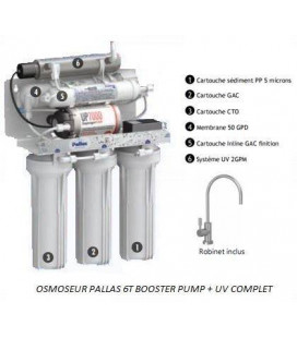 Osmoseur PALLAS 6T Booster Pump + UV