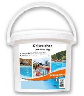 Chlore choc pastilles 20g