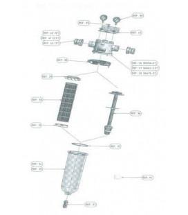 Dispositif pour granulés charbon actif ou autres NW50/62/75