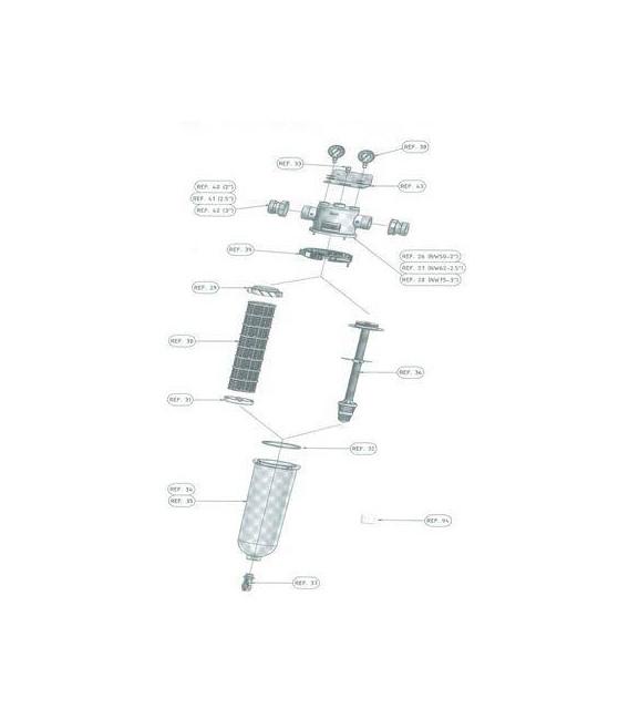 Collier de serrage inox NW50/62/75