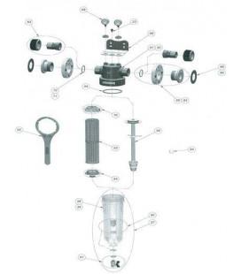 Couvercle PVC + vis de fixation NW500/650/800