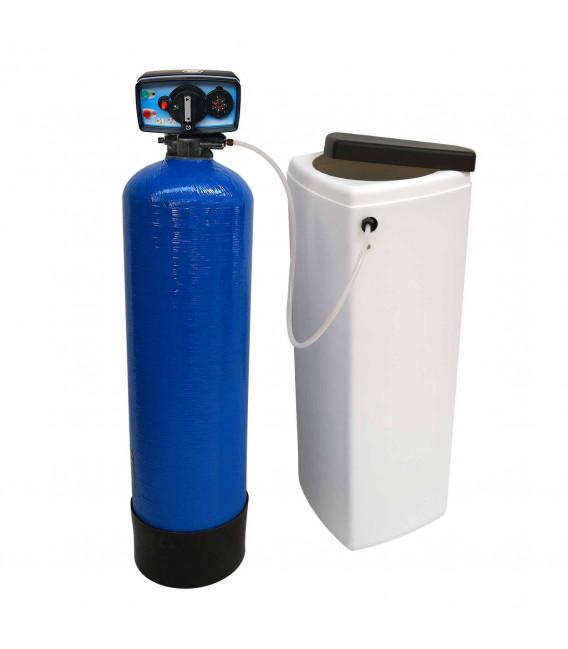 Adoucisseur d'eau bi bloc 25L vanne Fleck 5600 mecanique chronometrique