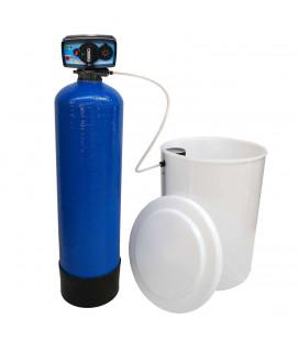 Adoucisseur d'eau bi bloc 75L vanne Fleck 5600 mecanique chronometrique complet avec accessoires