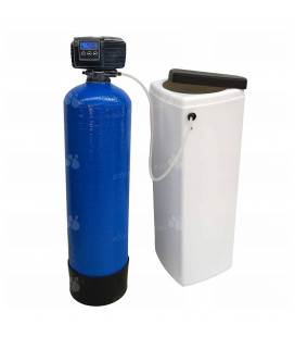 Adoucisseur d'eau bi bloc 25L vanne Fleck 5600 SXT