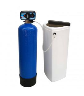 Adoucisseur d'eau bi bloc 14L vanne Fleck 4600 mecanique chronometrique eau chaude