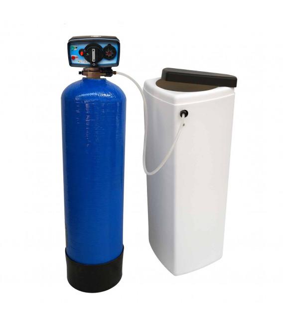 Adoucisseur d'eau bi bloc 20L vanne Fleck 4600 mecanique chronometrique eau chaude