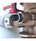 Adoucisseur d'eau bi bloc 75L vanne Fleck 4600 mecanique chronometrique eau chaude complet avec accessoires