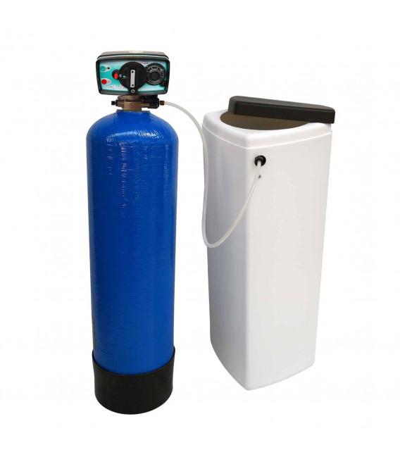Adoucisseur d'eau bi bloc 14L vanne Fleck 4600 mecanique volumetrique eau chaude