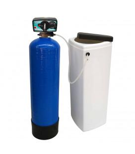 Adoucisseur d'eau bi bloc 25L vanne Fleck 4600 mecanique volumetrique eau chaude