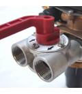 Adoucisseur d'eau bi bloc 30L vanne Fleck 4600 mecanique volumetrique eau chaude complet avec accessoires