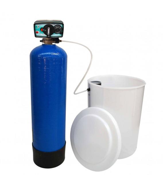 Adoucisseur d'eau bi bloc 50L vanne Fleck 4600 mecanique volumetrique eau chaude