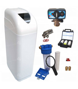 Adoucisseur d'eau 30L Fleck 4600 MC eau chaude complet avec accessoires