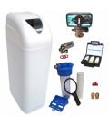 Adoucisseur d'eau 25L Fleck 4600 MV eau chaude complet avec accessoires
