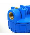 """Double porte filtre à eau 9""""3/4 - 20/27F avec cartouche 20µm + Polyphosphate"""