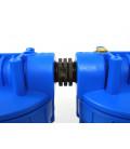 """Double porte filtre à eau 9""""3/4 - 26/34F avec cartouche 20µm + Polyphosphate"""