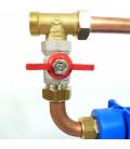 """Double porte filtre à eau 9""""3/4 - 20/27F avec cartouche 20µm + CA avec by-pass"""