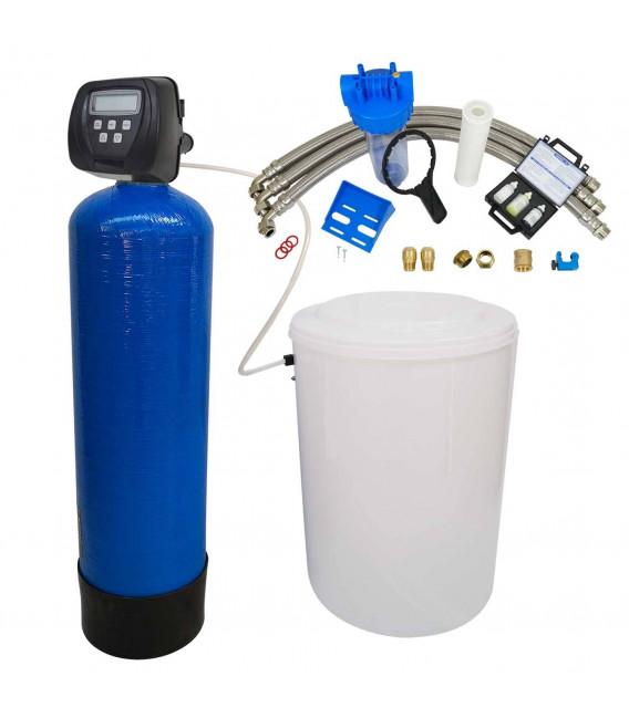 Adoucisseur d'eau bi bloc 225L Clack WS100V complet