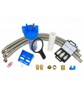 Adoucisseur d'eau bi bloc 16L vanne Fleck 5600 mecanique chronometrique complet avec accessoires