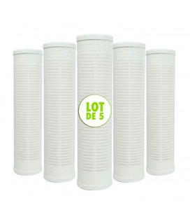 """Lot de 5 cartouches toile lavable 60µm - 9""""3/4"""