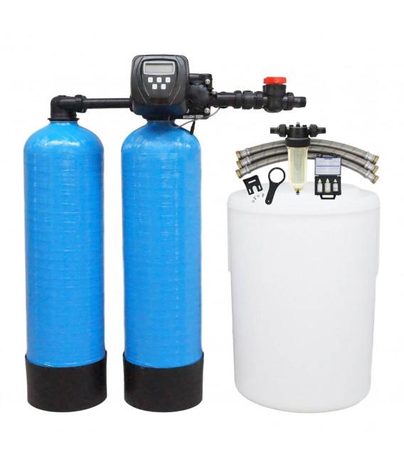 Adoucisseur d'eau duplex 2x20L Clack WS1TT complet