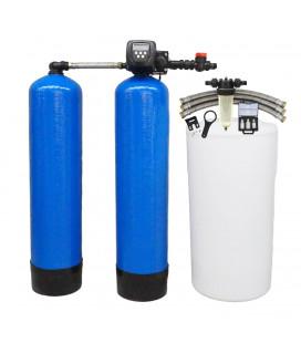 Adoucisseur d'eau duplex 2x100L Clack WS1TT complet