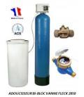 Adoucisseur d'eau bi bloc 75L fleck 2850