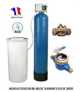 Adoucisseur d'eau bi bloc 175L fleck 2850