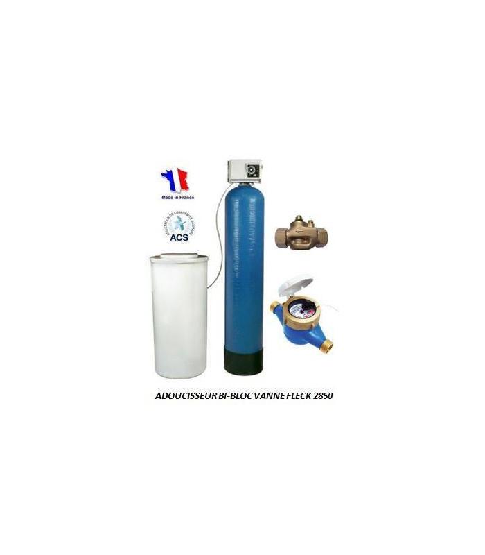 adoucisseur d 39 eau bi bloc 225l fleck 2850 adoucisseur eau. Black Bedroom Furniture Sets. Home Design Ideas