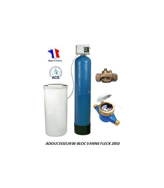 Adoucisseur d'eau bi bloc 350L fleck 2850