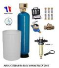 Adoucisseur d'eau bi bloc 100L fleck 2910 complet