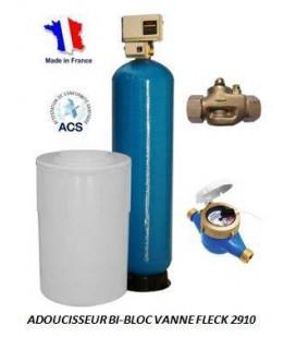 Adoucisseur d'eau bi bloc 225L fleck 2910