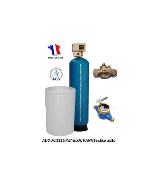 Adoucisseur d'eau bi bloc 475L fleck 2910