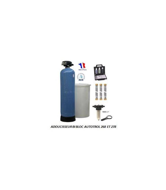 adoucisseur d 39 eau bi bloc 75l autotrol performa 268 740 complet adoucisseur eau. Black Bedroom Furniture Sets. Home Design Ideas