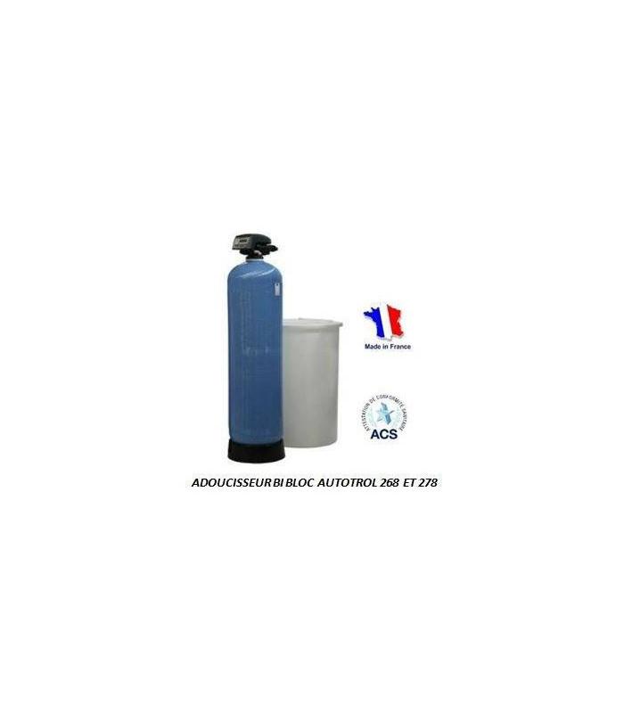 Adoucisseur d 39 eau bi bloc 50l autotrol performa 268 760 for Adoucisseur d eau salle de bain