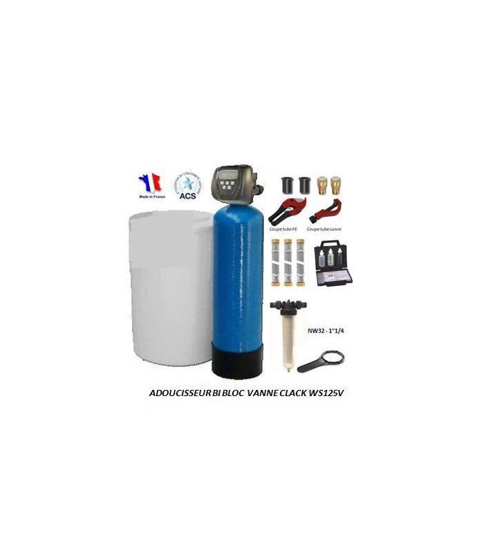 adoucisseur d 39 eau bi bloc 30l clack ws125v complet adoucisseur eau. Black Bedroom Furniture Sets. Home Design Ideas