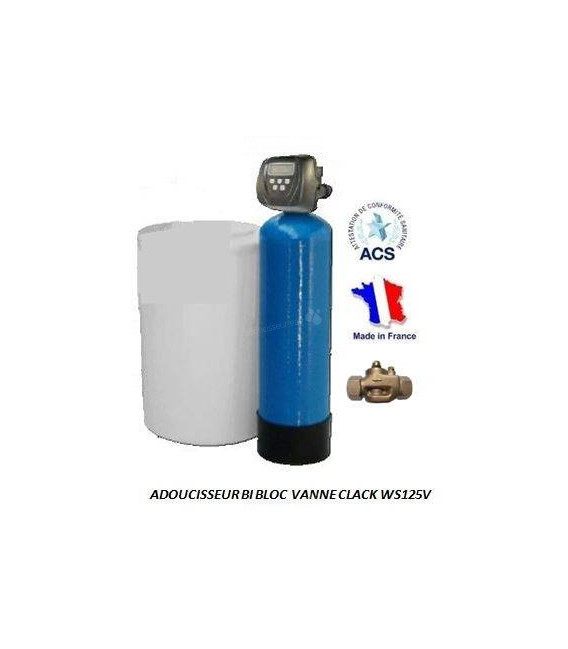 adoucisseur d 39 eau bi bloc 175l clack ws125v adoucisseur eau. Black Bedroom Furniture Sets. Home Design Ideas