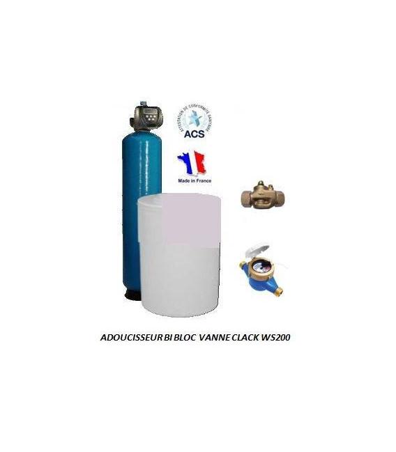Adoucisseur d'eau bi bloc 150L Clack WS200