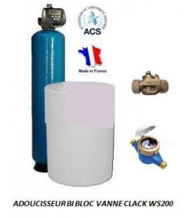 Adoucisseur d'eau bi bloc 350L Clack WS200