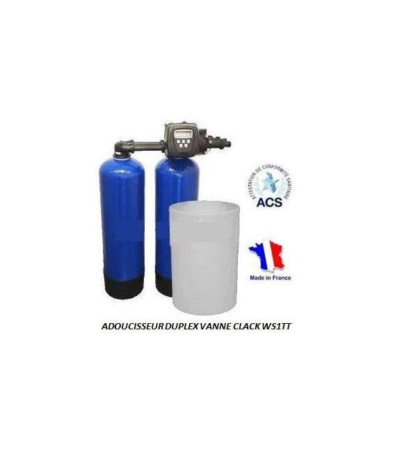 Adoucisseur d 39 eau duplex 2x14l clack ws1tt adoucisseur eau - Traiter l eau d une piscine ...