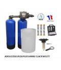 Adoucisseur d'eau duplex 2x14L Clack WS1TT complet