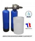 Adoucisseur d'eau duplex 2x20L Clack WS1TT
